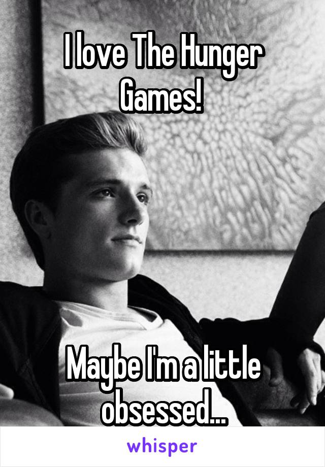 I love The Hunger Games!       Maybe I'm a little obsessed...