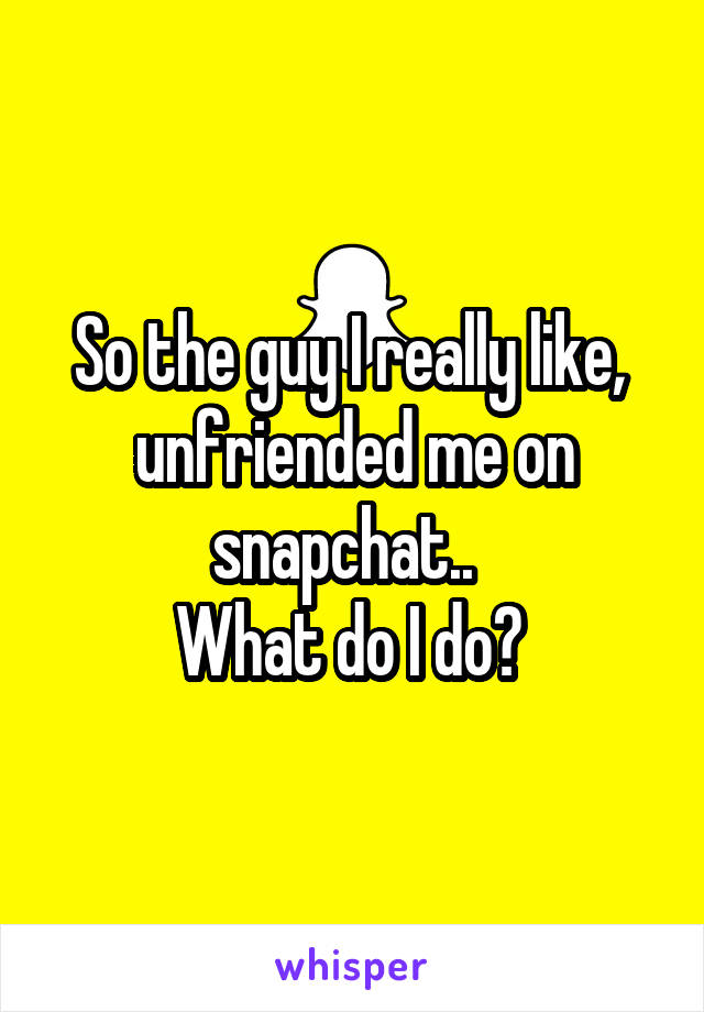 who unfriended me on snapchat