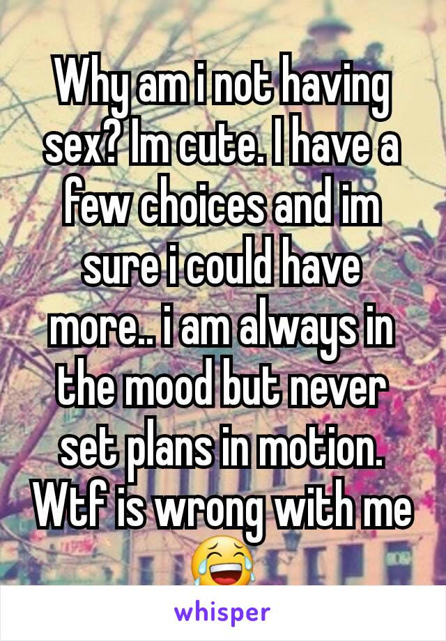 Wrong choices sex