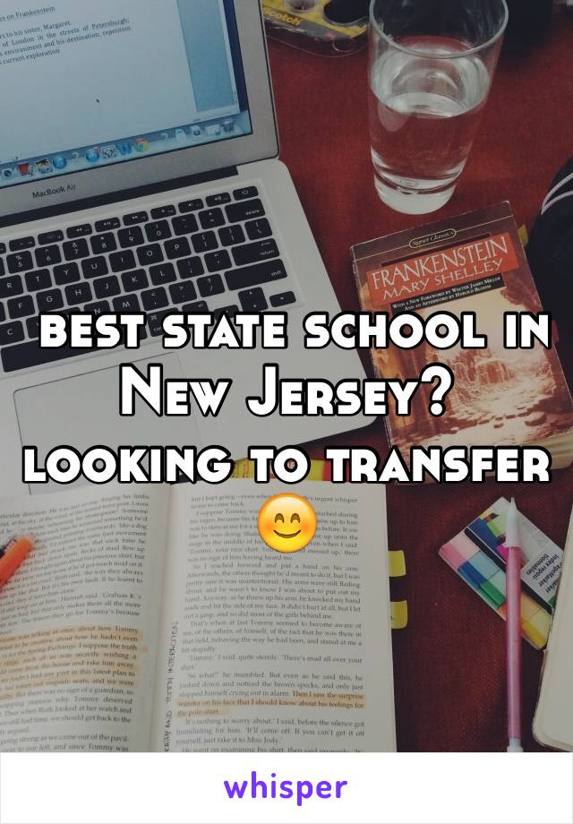 best state school in New Jersey? looking to transfer 😊