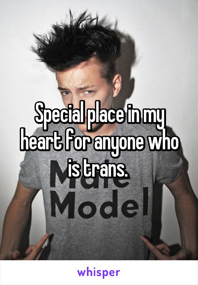 Special place in my heart for anyone who is trans.