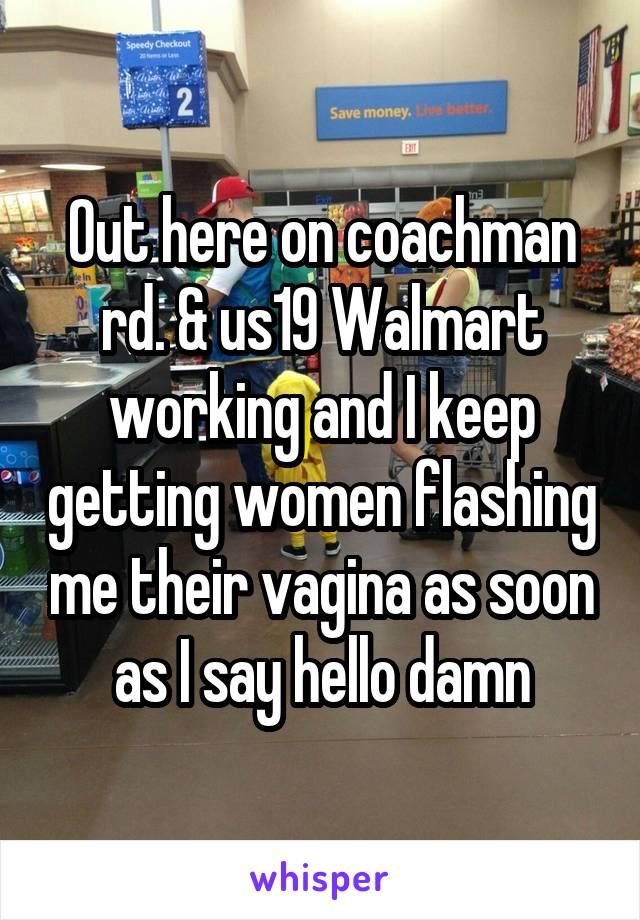 That interfere, Women flashing at walmart