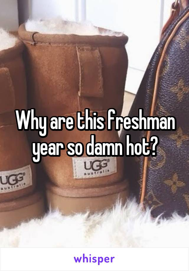 Why are this freshman year so damn hot?