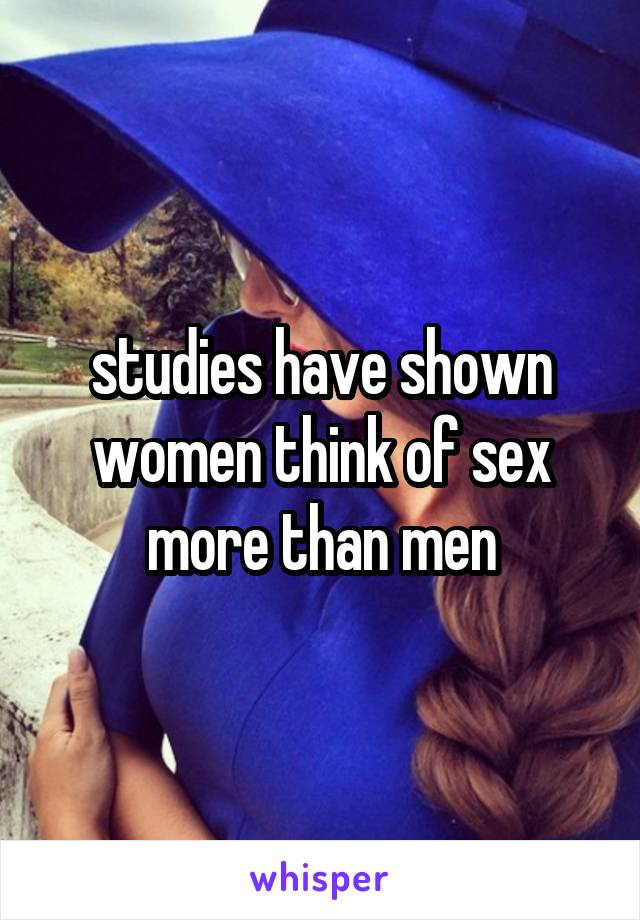 Studies on men thinking about sex