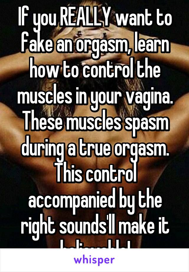during muscle orgasm spasms