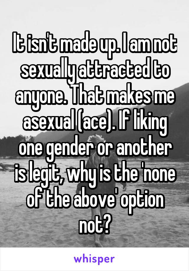 Not sexually attracted to anyone