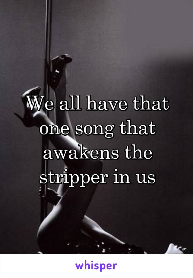 stripper song The