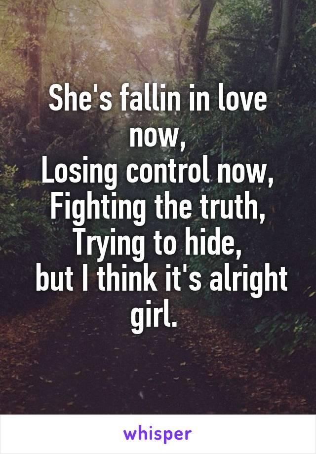 Falling in love now