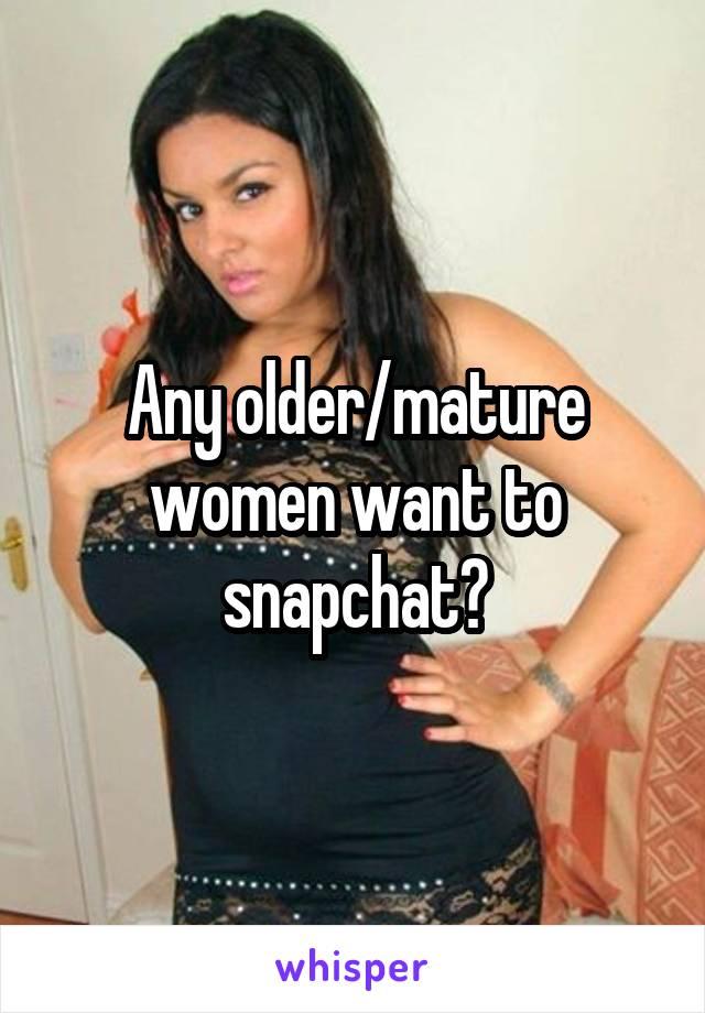 Mature snapchat