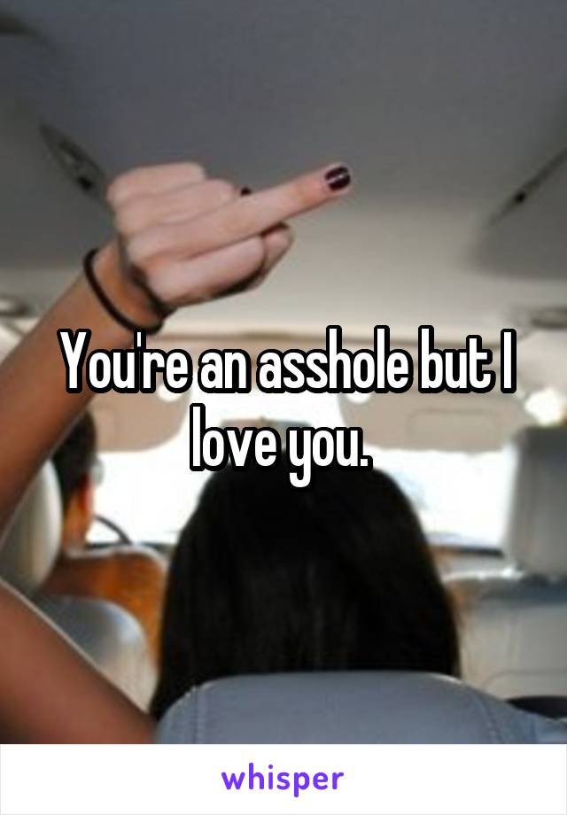 You're an asshole but I love you.
