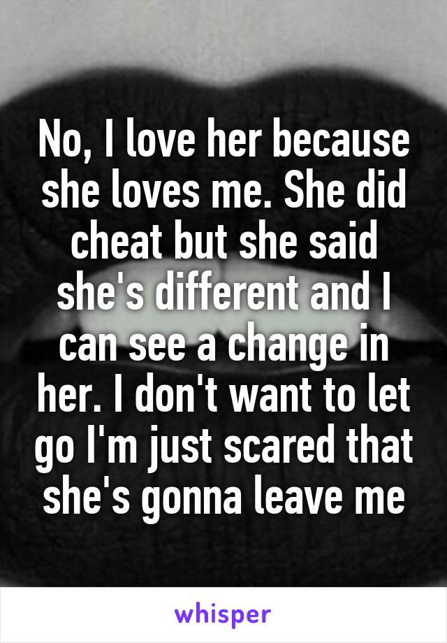 Letting go of a cheater