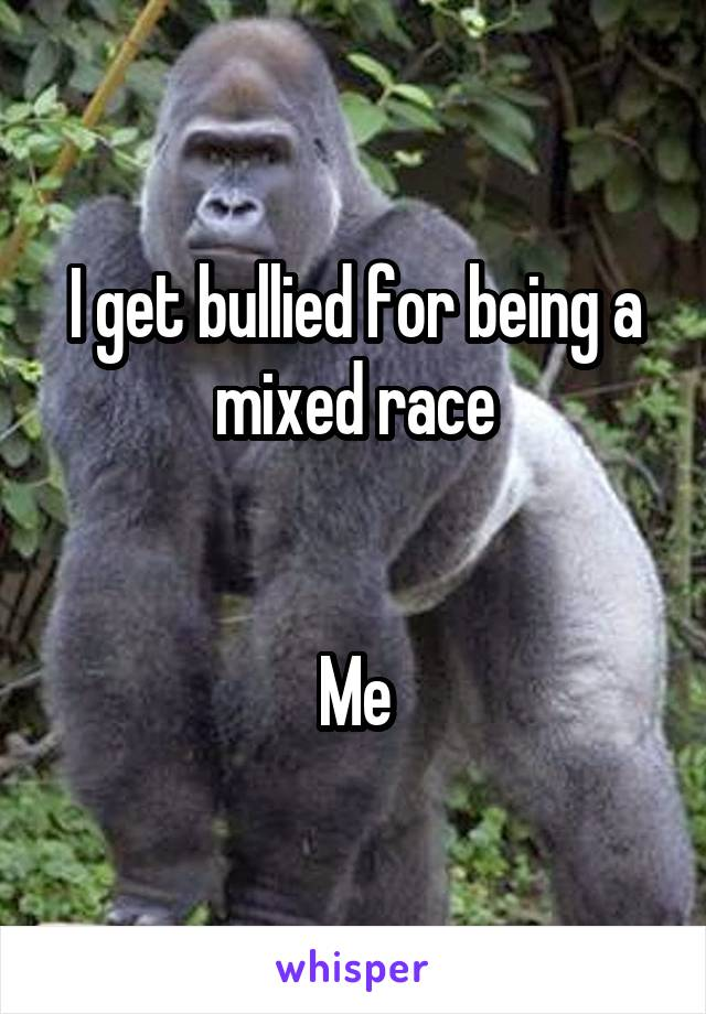I get bullied for being a mixed race   Me