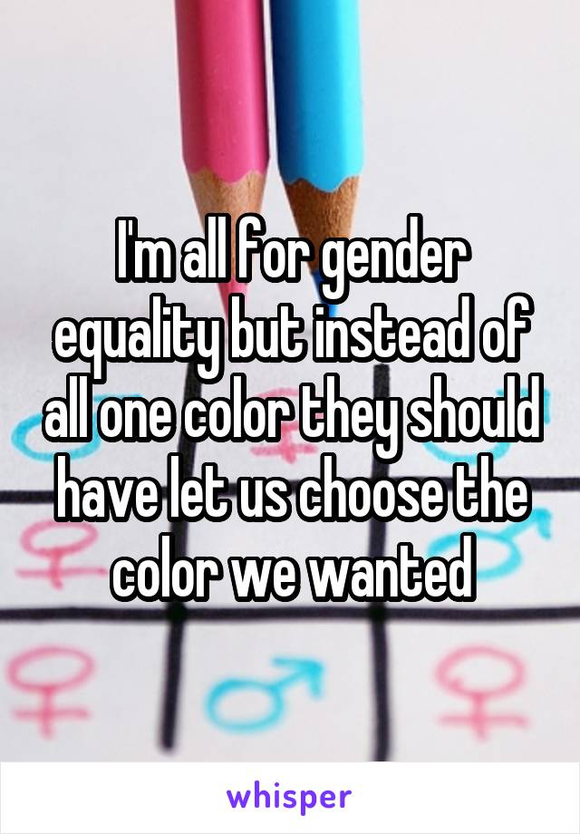 color for gender equality