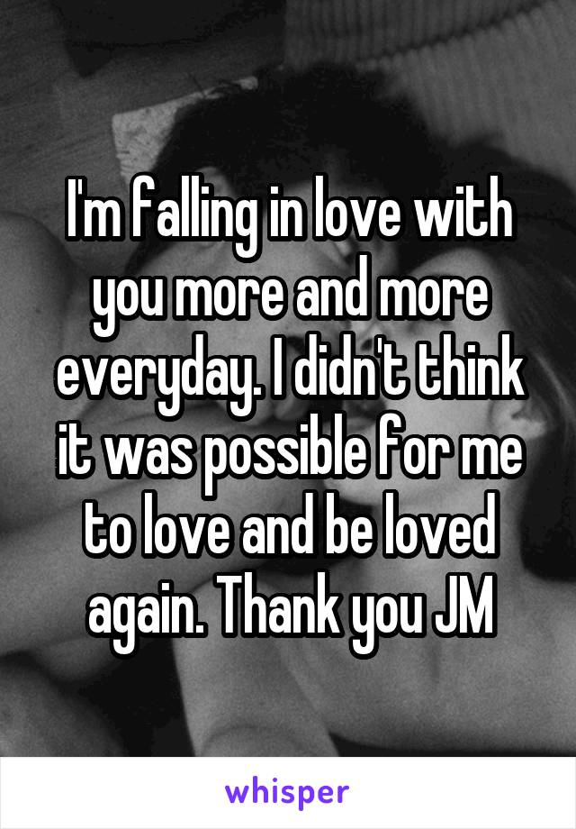 i m falling more in love with you