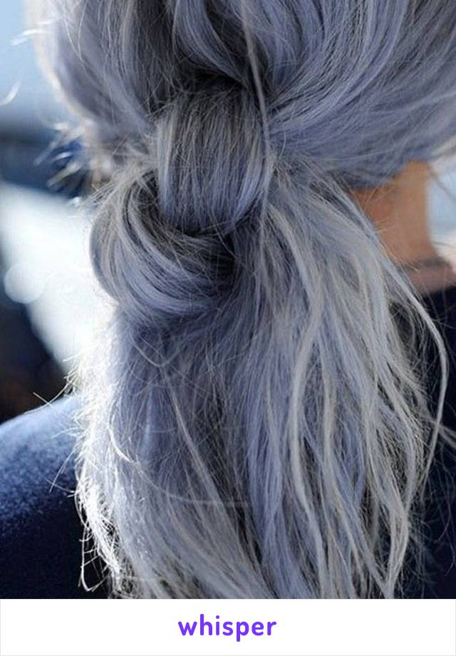 I have my son convinced that my gray hairs are actually strands of glitter 👵