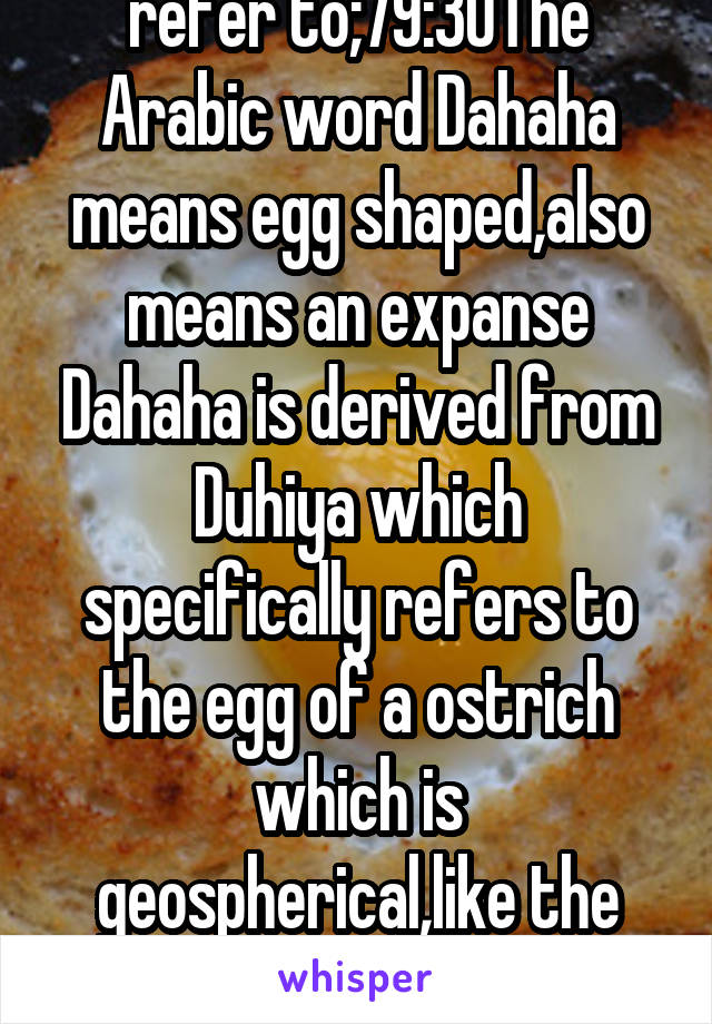 Refer To 79 30the Arabic Word Dahaha Means Egg Shaped Also Means An Expanse Dahaha Is