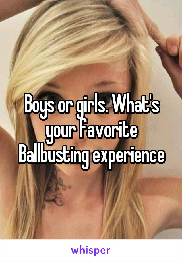Ballbusting experiences