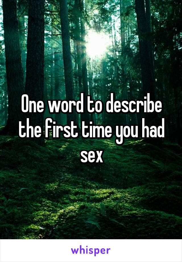 A word to describe no sex