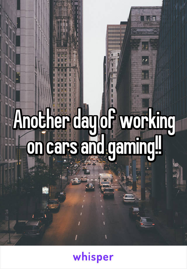 Another day of working on cars and gaming!!
