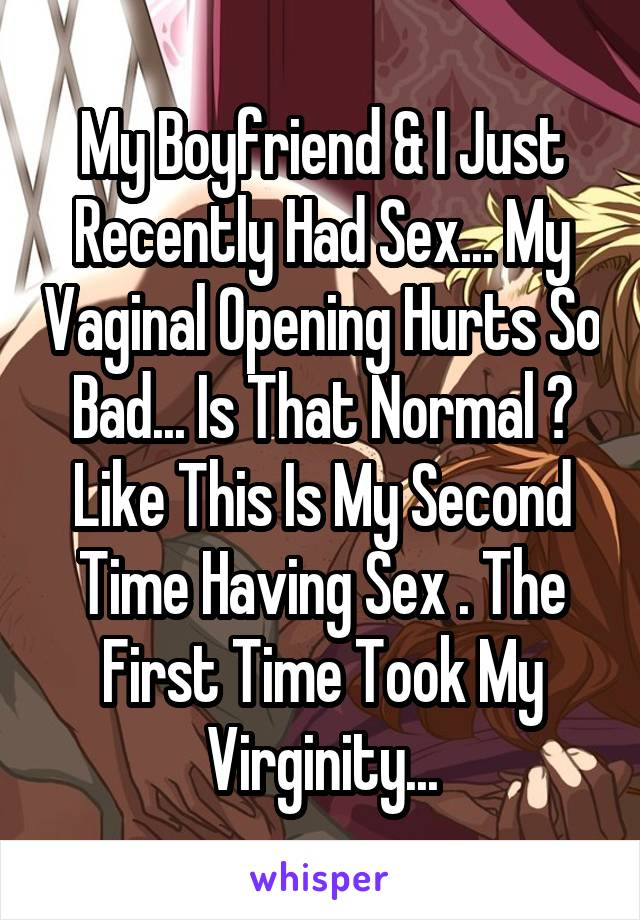 Does sex hurt the second time