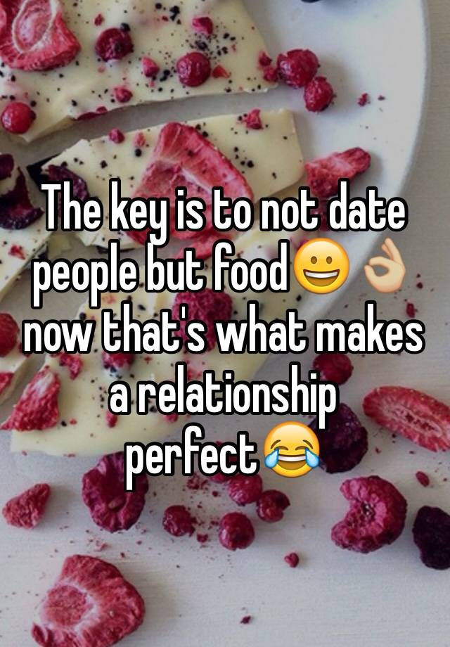 the key to a perfect relationship