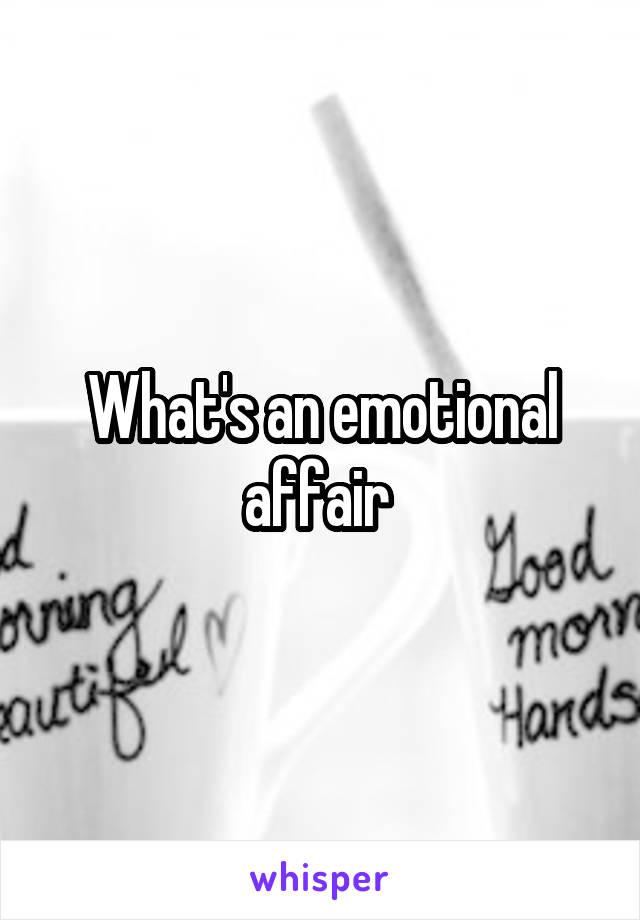 Whats an emotional affair