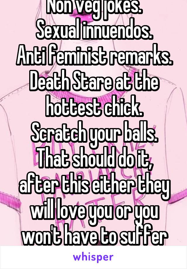 Anti sexual jokes