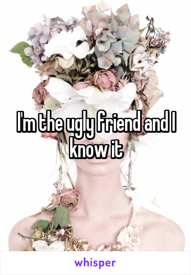 I'm the ugly friend and I know it