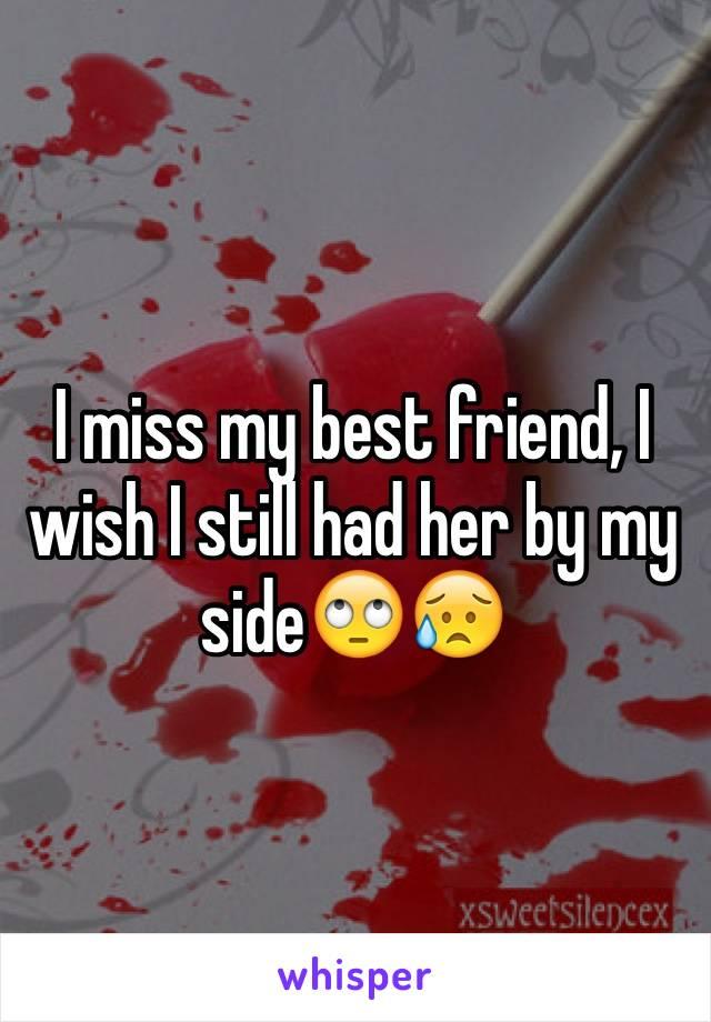 I miss my best friend, I wish I still had her by my side🙄😥
