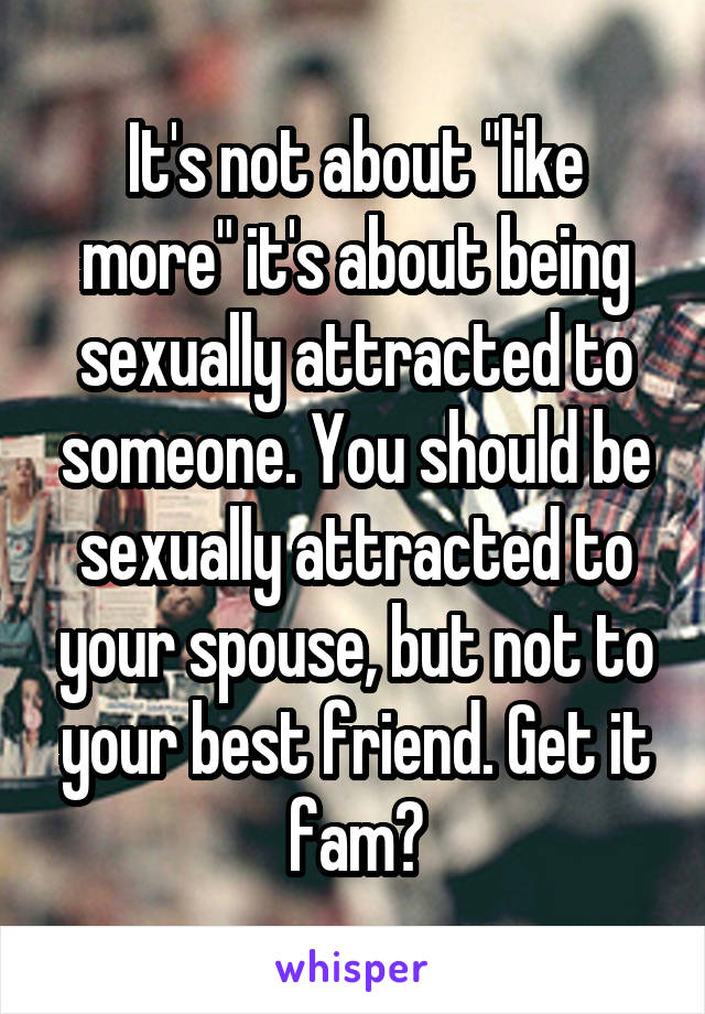 Not sexually attracted to my spouse