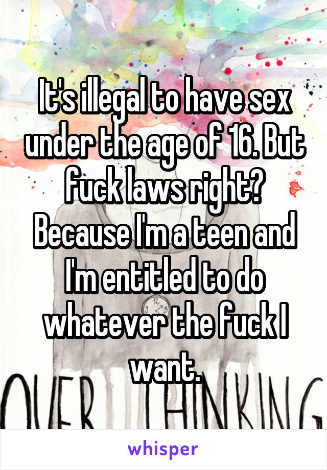 Right age to have sex think