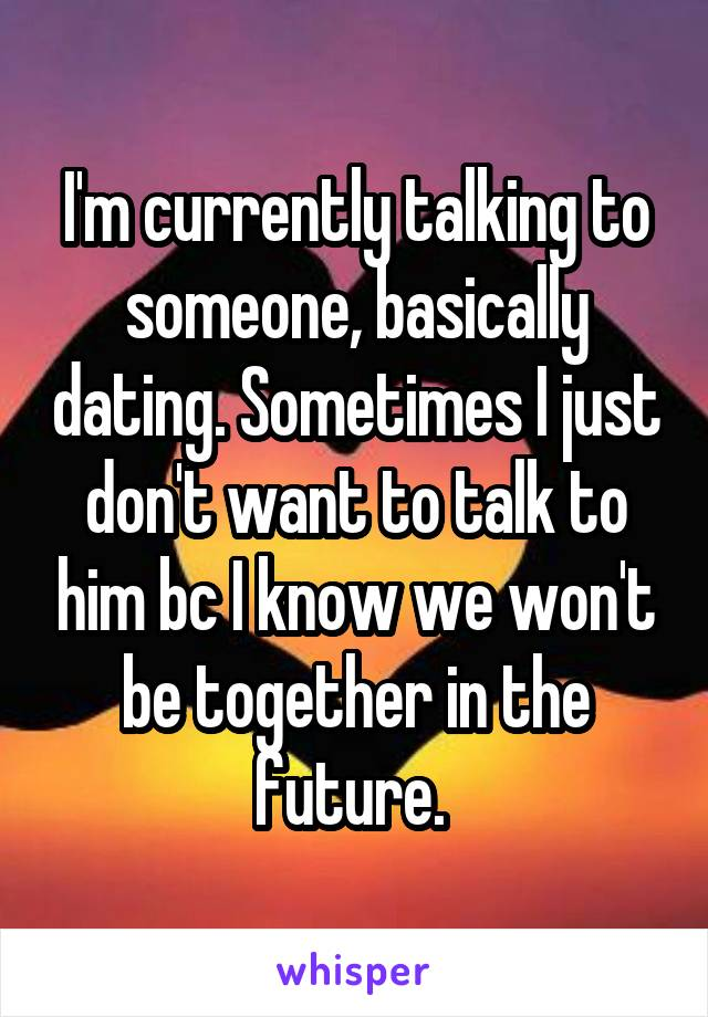 Dating talking about the future
