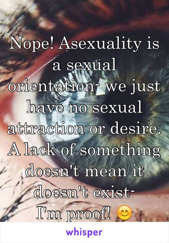 No sexual attraction to anything