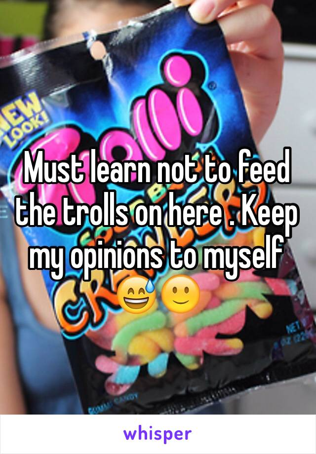 Must learn not to feed the trolls on here . Keep my opinions to myself 😅🙂