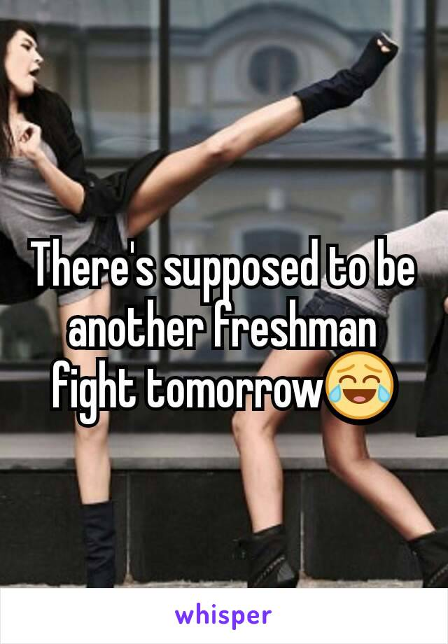 There's supposed to be another freshman fight tomorrow😂