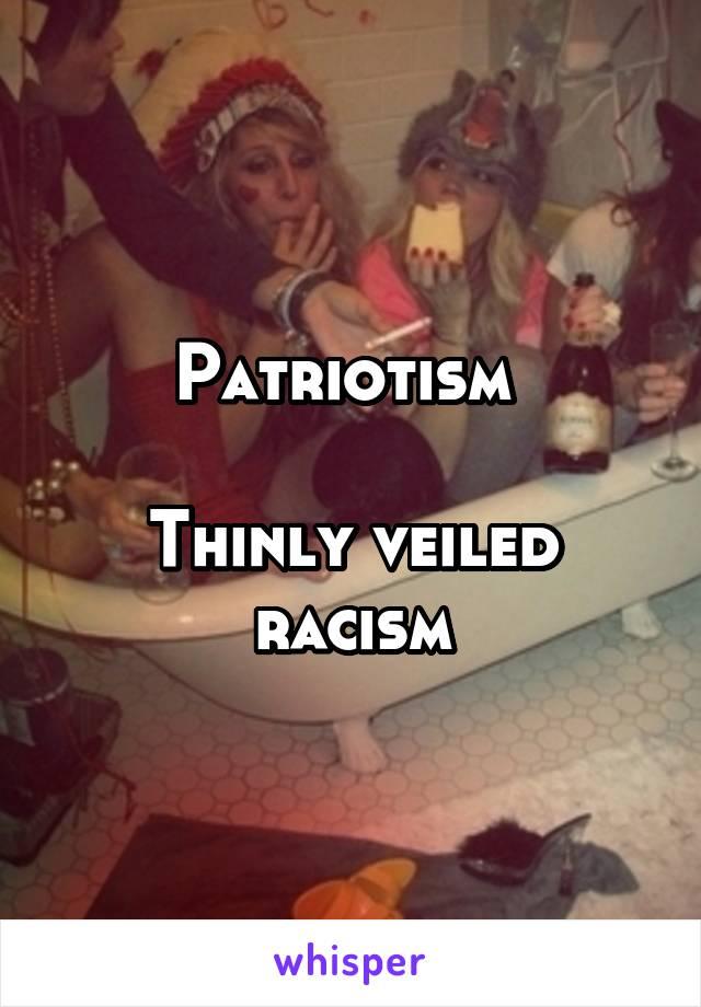 Veiled racism