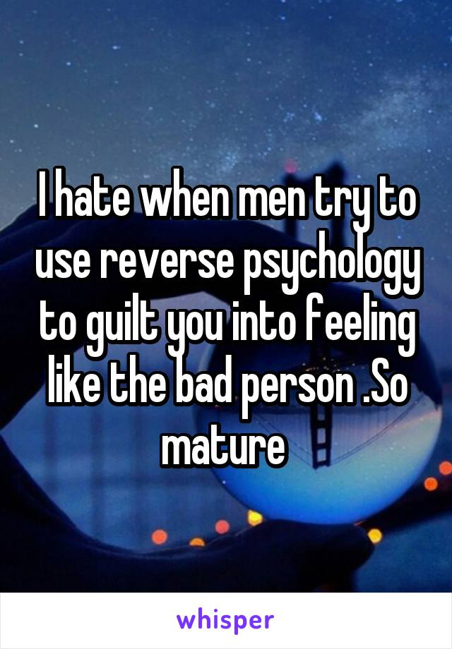 Psychology men reverse on How to