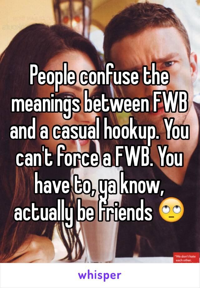 hookup vs fwb