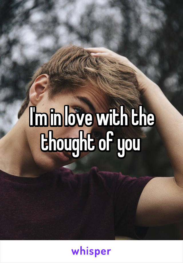 I'm in love with the thought of you