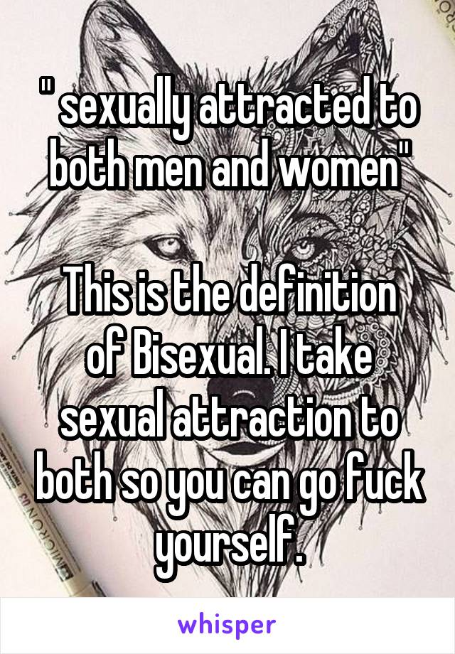 sexually attracted to yourself