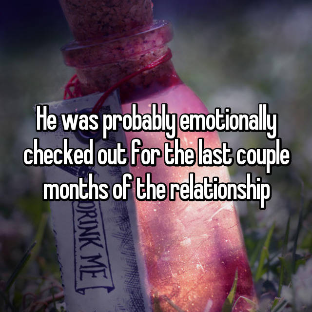 emotionally checked out relationship