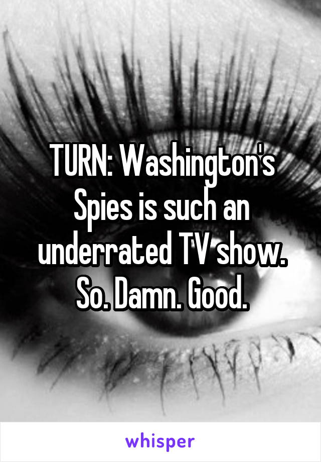 TURN: Washington's Spies is such an underrated TV show. So. Damn. Good.