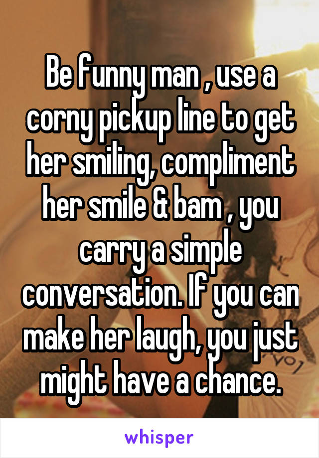 Smile pick up lines