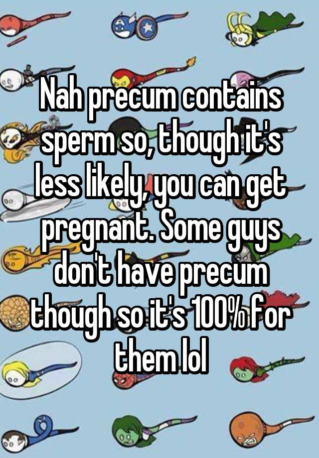 what does precum contain