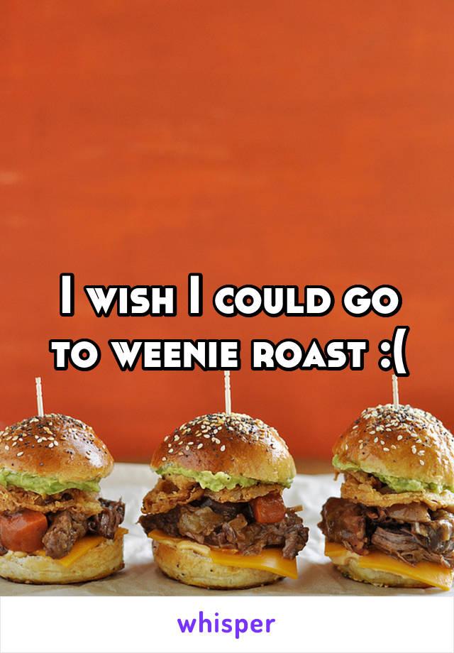 I wish I could go to weenie roast :(