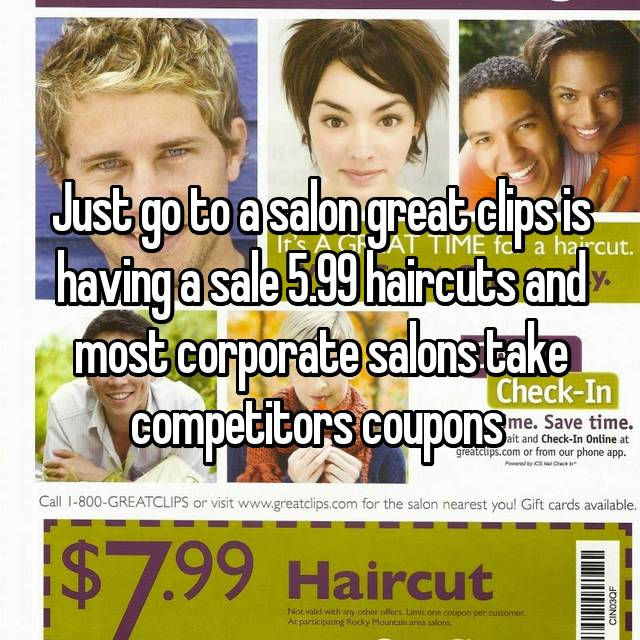 Just Go To A Salon Great Clips Is Having A Sale 5 99 Haircuts And