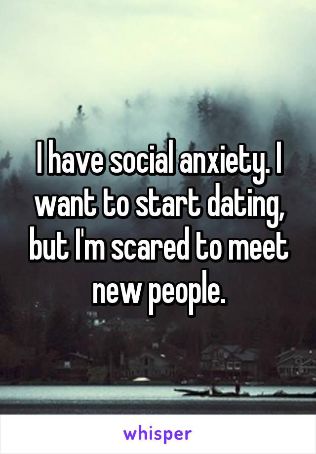 Social anxiety dating