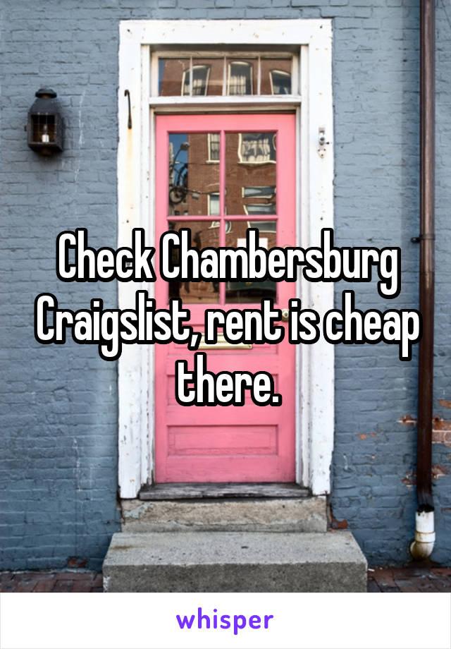 Chambersburg craigslist