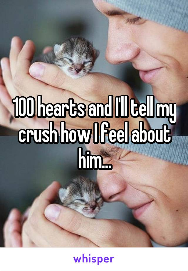 100 hearts and I'll tell my crush how I feel about him...