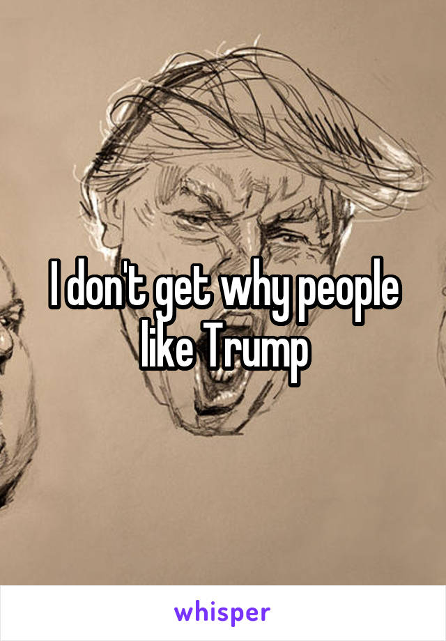 I don't get why people like Trump